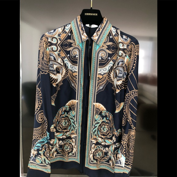 619dd72bc93de0 Versace silk blouse shirt size 42 S